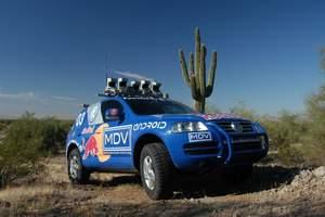 Stanley, управляемый ИИ Volkswagen Touareg, проехал 200 км. по пустыне без водителя